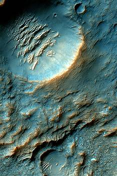 Mars Dragon Scales Crater in Light Blue by Ian Grasshoff