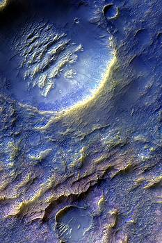 Mars Dragon Scales Crater in Purple by Ian Grasshoff