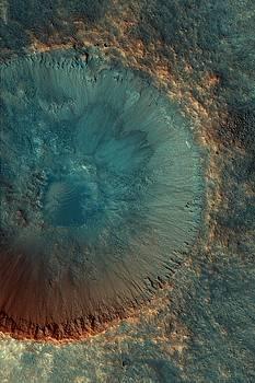 Mars Fresh Crater Near Mawrth Vallis by Ian Grasshoff
