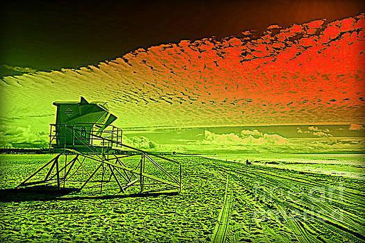 City - Newport Beach - Mars in Springtime by Kip Krause