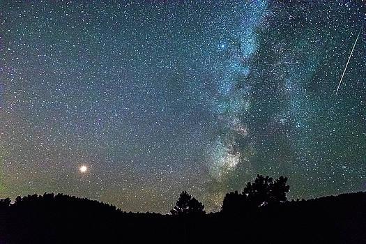 Mars - Perseid Meteor - Milky Way by James BO Insogna