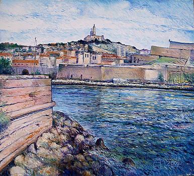Marseille Pierre Plats Provence France cm 2004  by Enver Larney
