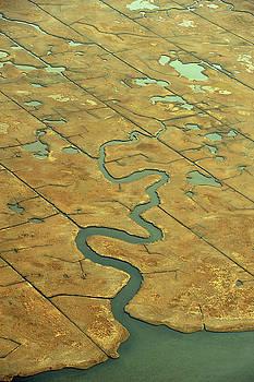 Marsh Ariel View 1 by Dennis Clark