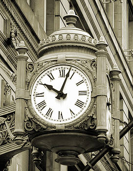 Marshall Fields Clock by Jaymes Williams