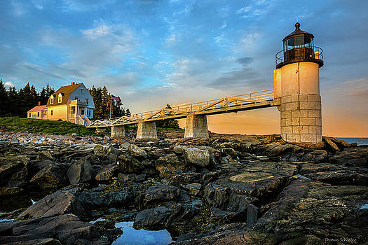 Marshall Point Light Aglow by Thomas Schoeller