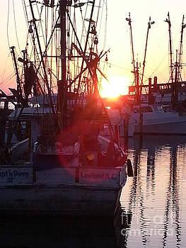 Marshallberg Harbor Sunset by Frances Marian Lewis