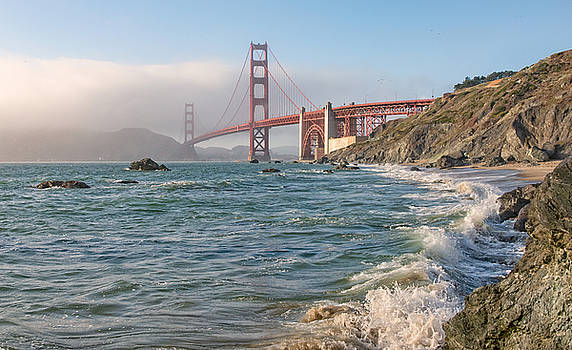 Marshall's beach to the Golden Gate by Mark Chandler