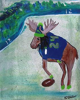 Marshawn Moose by Susan Snow Voidets