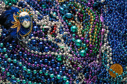 Mardi Gras in Blue by Diana Marcoux