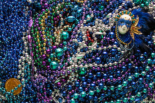 Mardi Gras in Blue mask right by Diana Marcoux
