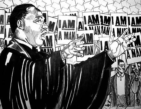 Martin in progess by Malik Seneferu