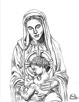 Mary and Christ child by Noah Burdett
