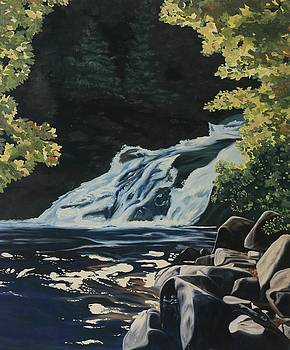 Mary Ann Falls on the Cabot Trail by Phil Chadwick