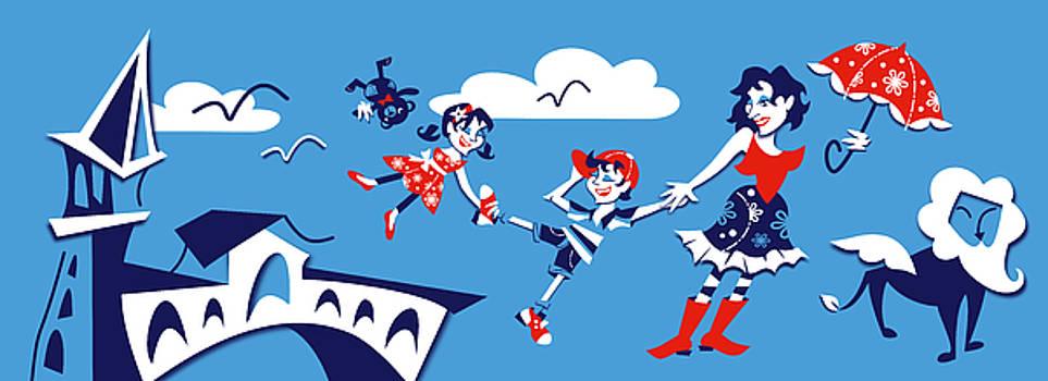 Arte Venezia - Mary Poppins - Campanile Rialto Venezia