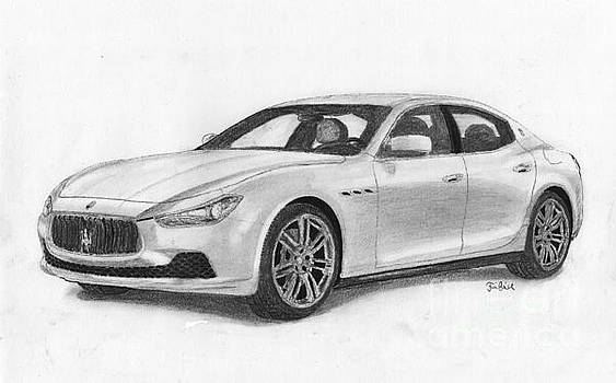 Maserati sport car. by Kokas Art