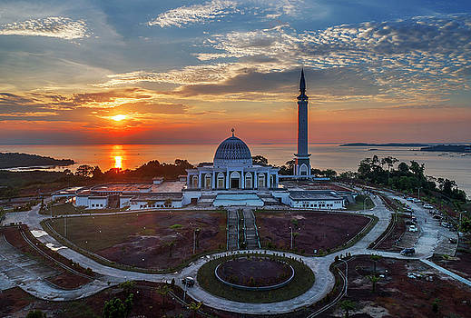 Masjid Rayu at sunset by Pradeep Raja PRINTS