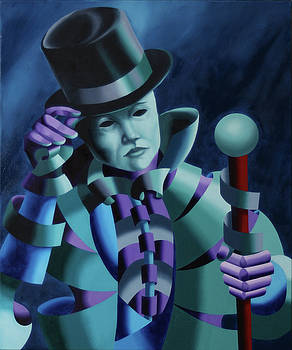 Mask of the Magician - Abstract Oil Painting by Mark Webster