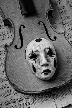 Mask On Old Violin by Garry Gay