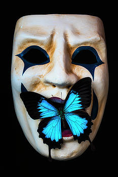 Mask With Blue Butterfly by Garry Gay