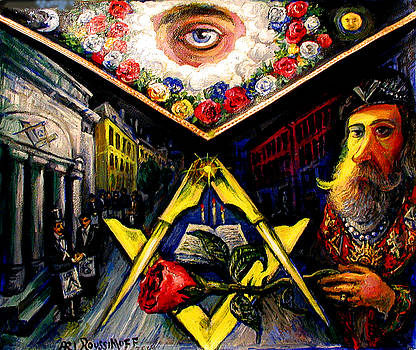 Masonic Apron, Light Out Of Darkness by Ari Roussimoff