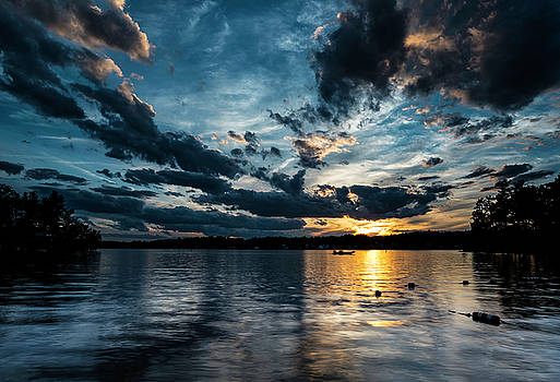 Masscupic Lake Sunset by John Forde