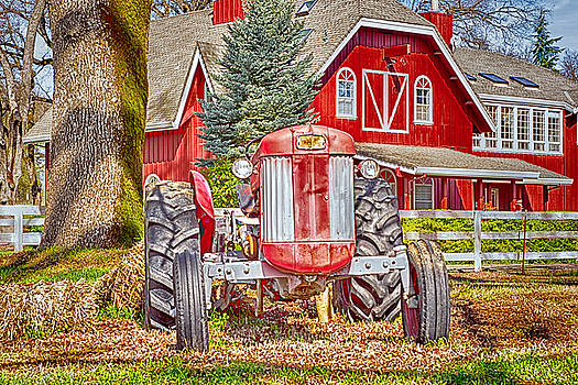 MasseyTractor At Red Farm House by William Havle