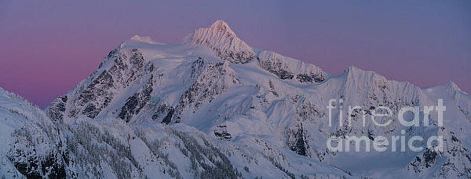 Massive Mount Shuksan Dusk Sunset Panorama by Mike Reid