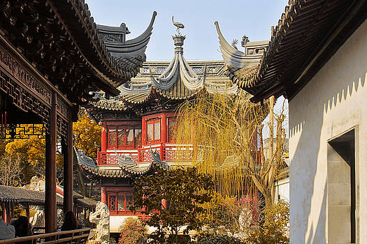 Christine Till - Massive upturned eaves - Yuyuan Garden Shanghai China