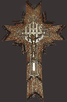 Anne Cameron Cutri - Matchstick Cross Crucifix