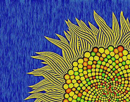 Math Sunflower1 by GuoJun Pan