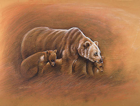 Mato na matocincala / Bear and Cubs by Dave Kobrenski