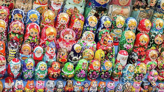 Matryoshka dolls for sale in New York City by Edward Fielding