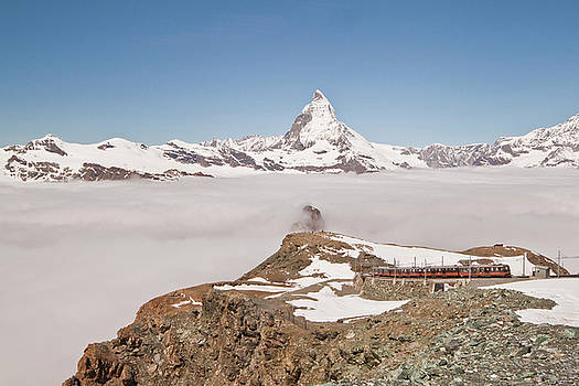 Matterhorn and Fog by Christine Amstutz
