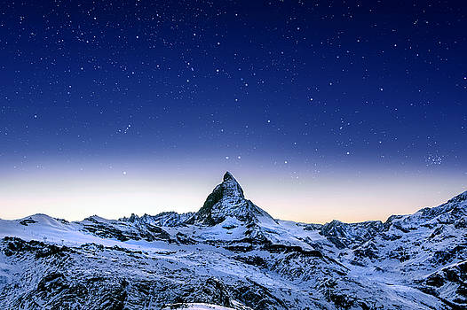 Matterhorn Night by Nikos Stavrakas