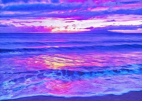 Dominic Piperata - Maui Sunset Looking Toward Lanai