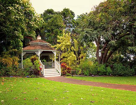 Maui Tropical Plantation Wedding Gazebo by Linda Tiepelman