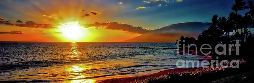 Maui wedding beach sunset  by Tom Jelen