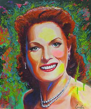 Maureen O'Hara by Tomas OMaoldomhnaigh