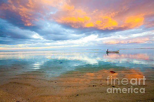 Mauritius Fire in the Sky Sunset by Christy Woodrow