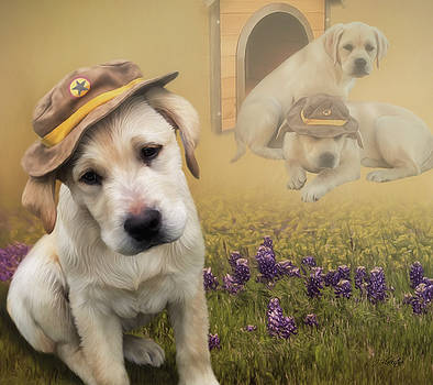 Maverick and Tori - Labrador Art by Jordan Blackstone