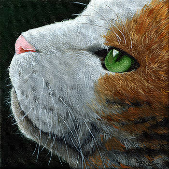 Max - neighbor cat painting by Linda Apple