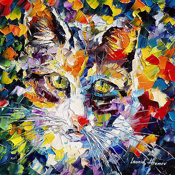 Max - PALETTE KNIFE Oil Painting On Canvas By Leonid Afremov by Leonid Afremov