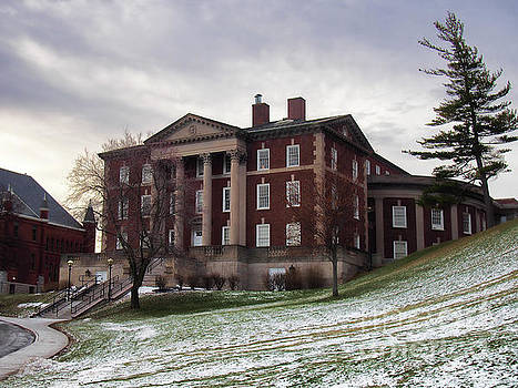 Maxwell Hall in winter by Debra Millet