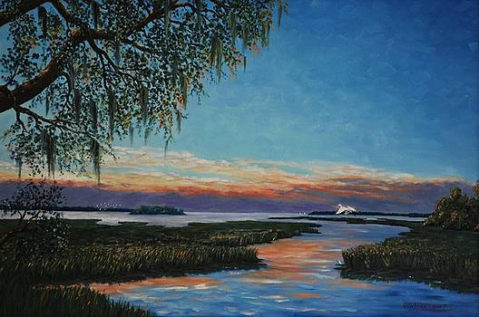 May River Sunset by Stanton Allaben
