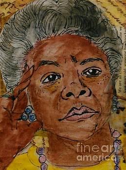 Maya Angelou by Frechelle OUTSIDER