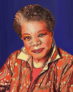 Maya Angelou by James  Mingo