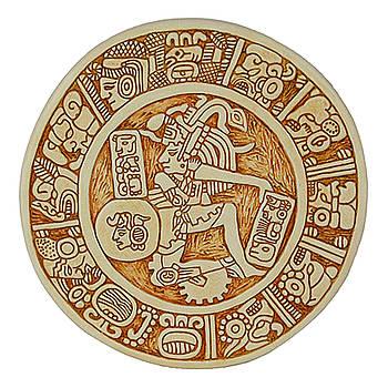 Mayan Aztec Warrior by Vagabond Folk Art - Virginia Vivier