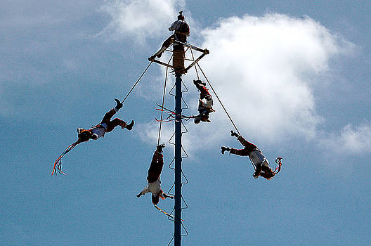 Mayan Pole Flyers by Al Junco