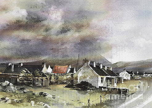 Val Byrne - Mayo.... Storm over Dooagh, Achill
