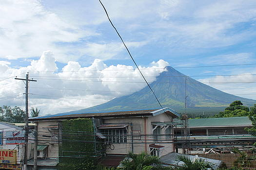 Mayon In-front Of My House by Manuel Cadag